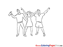 Party free Colouring Page download