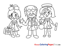 Printable Doctor Coloring Pages for free