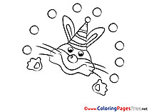 Rabbit Colouring Sheet download free