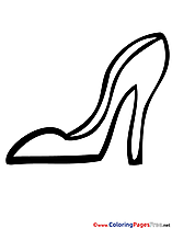 Shoes Colouring Page printable free