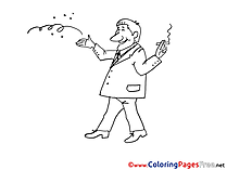 Smoker Coloring Pages for free