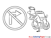 Arrow Sign free printable Coloring Sheets
