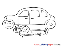 Autocar Colouring Page printable free