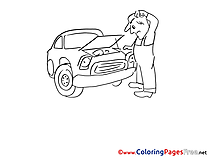 Breakdown Colouring Page printable free