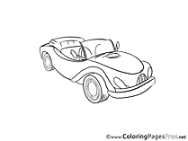 Cabriolet Kids download Coloring Pages