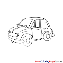 Car printable Coloring Sheets download