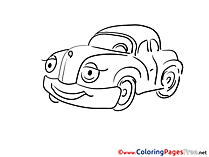 Children Car download Colouring Page