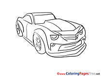 Children Coloring Pages Car free