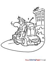 City Car Colouring Page printable free