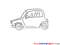 Compact Car for Children free Coloring Pages