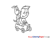 Dog Child for free Coloring Pages download