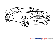 For Children free Coloring Pages Car