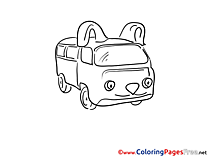 Fourgon download Colouring Sheet free