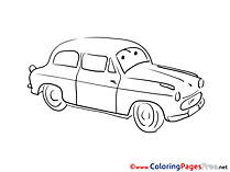 Free Car Colouring Page download