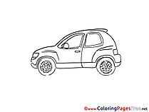 Hatchback for Children free Coloring Pages
