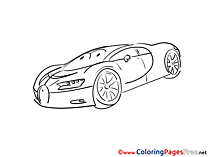Kids download Car Coloring Pages