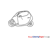 Little Car for Kids printable Colouring Page