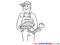 Mechanical Children Coloring Pages free