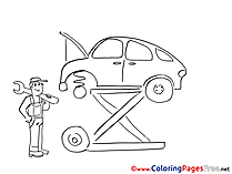 Mechanical Coloring Sheets download free