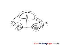 Mini Car download Colouring Sheet free