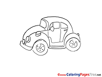 Mini Car free printable Coloring Sheets