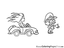 Police free Colouring Page download