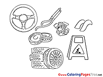 Repair printable Coloring Sheets download
