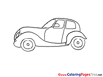 Retro-car download Colouring Sheet free