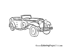 Retro-car download printable Coloring Pages