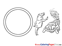 Road Sign printable Coloring Pages for free