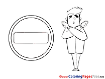 Sign Colouring Page printable free