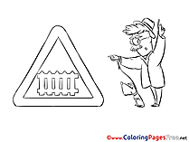 Sign for Kids printable Colouring Page