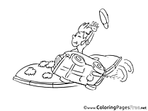 Speed printable Coloring Pages for free