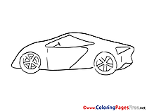 Sport Car Children Coloring Pages free