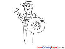 Tires Coloring Pages for free