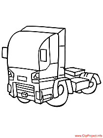 Truck coloring page free