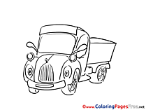 Truck download printable Coloring Pages