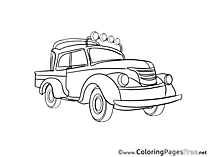 Van Colouring Sheet download free