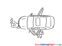 Vehicle Colouring Sheet download free