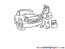 Vehicle Kids free Coloring Page