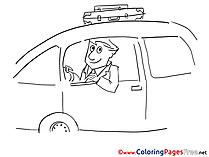 Voyage Kids free Coloring Page