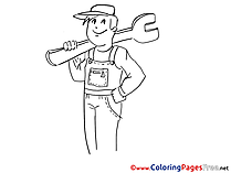 Wrench Mechanical download printable Coloring Pages