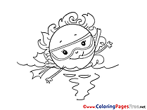 Aqualung Coloring Pages for free