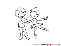 Ballet Kids free Coloring Page