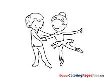 Ballet Kids free Coloring Page