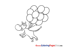 Balloons printable Coloring Pages for free