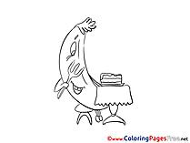 Banana for Kids printable Colouring Page