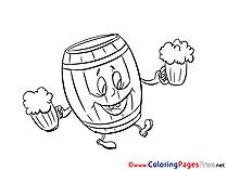 Barrel Oktoberfest free printable Coloring Sheets