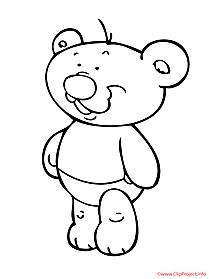 Bear coloring sheet