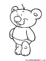 Bear free Colouring Page download